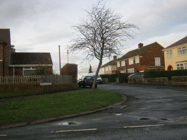 Eastern end of Norton Crescent in Sadberge