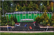 SX9265 : Torquay : Babbacombe Model Village - Wombley Stadium by Lewis Clarke