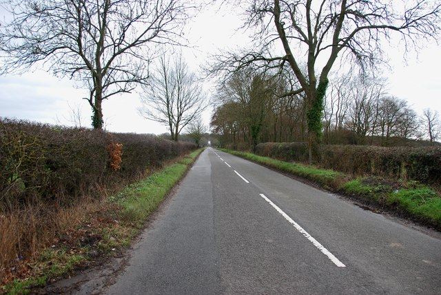 Looking down Four Ashes Road towards Four Ashes