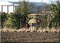 TL4958 : Footpath piper near Cambridge Airport by John Sutton