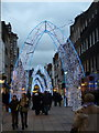 TQ2881 : London: Christmas lights in South Molton Street by Chris Downer