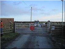 TA0781 : Lebberston  Gates  with  traffic  waiting by Martin Dawes