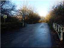 SJ8092 : Access road to Sale Water Park from Rifle Road, Sale by Phil Champion