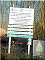 SJ8092 : Signs near Sale Water Park by Phil Champion