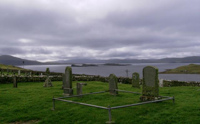 Gravestones in Trumpan Churchyard