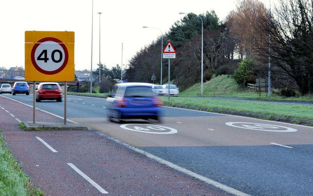 Speed limit sign, Bangor (2)