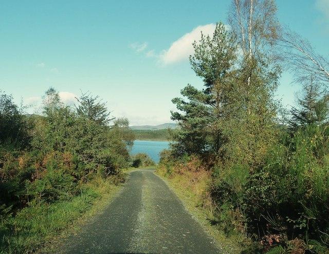 Raiders Road approaching Stroan Loch