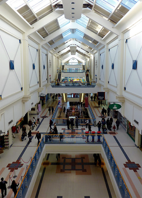 County Mall interior in Crawley, West Sussex