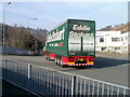 ST2198 : Eddie Stobart lorry Lauren Louise on the A467, Crumlin by Jaggery