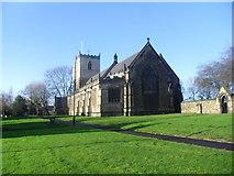 SK4374 : St John the Baptist, Staveley by steven ruffles
