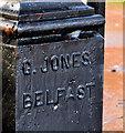 J3773 : Ornamental gatepost, Belfast (2) by Albert Bridge