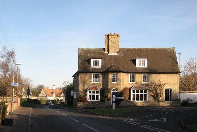 Swaffham Bulbeck: the corner of Quarry Lane