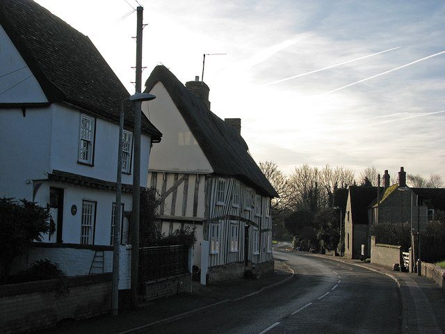 Swaffham Bulbeck High Street in January