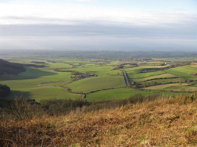 View over Happy Valley and Hood Grange