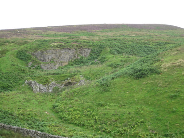 Quarry (disused) and remains of mine
