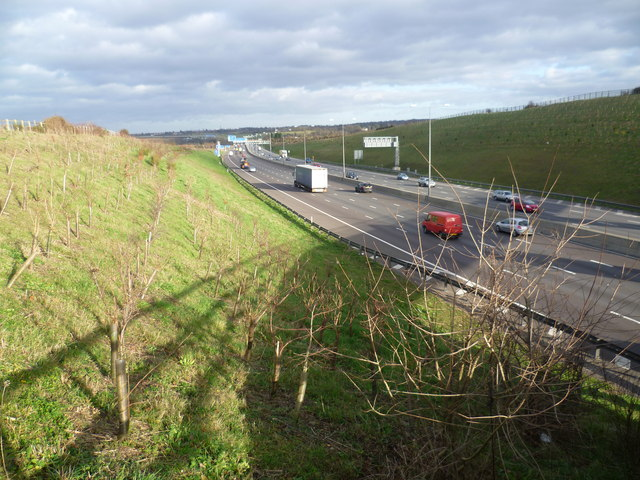 M25 seen from Clement Street