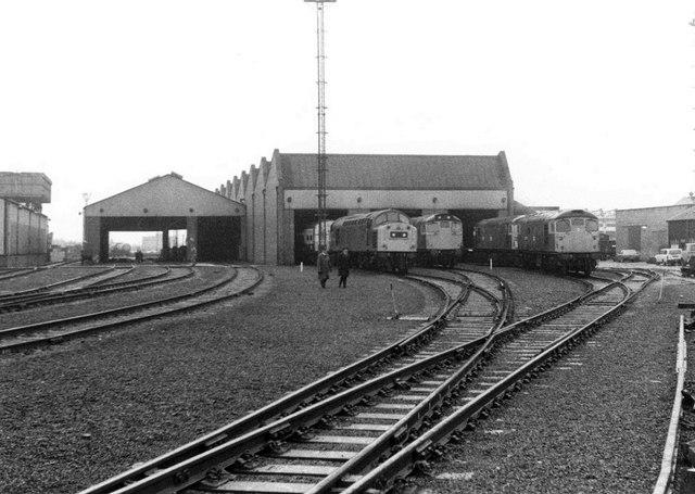Locomotives at Haymarket Depot, 1983