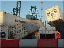 NS2776 : Storm damage at Greenock Ocean Terminal by Thomas Nugent