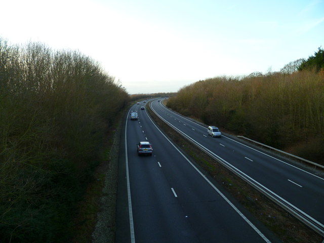A27(T) north of Polthooks Farm and looking west