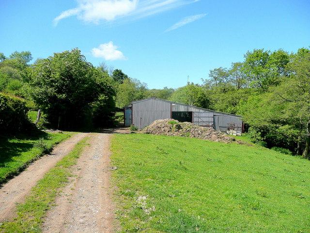 Farm sheds by a bridleway