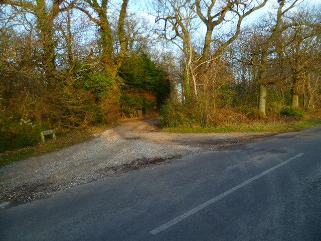 The driveway to Robin Hill Farm