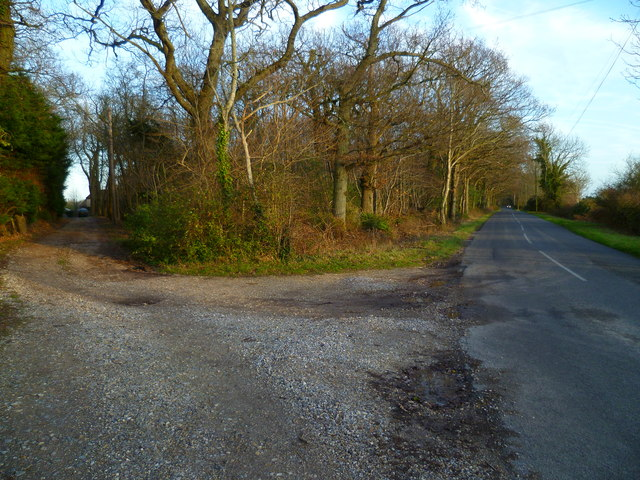 Clay Lane and the drive to Robin Hill Farm