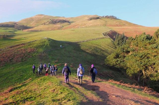On the ridge below Turnhouse Hill