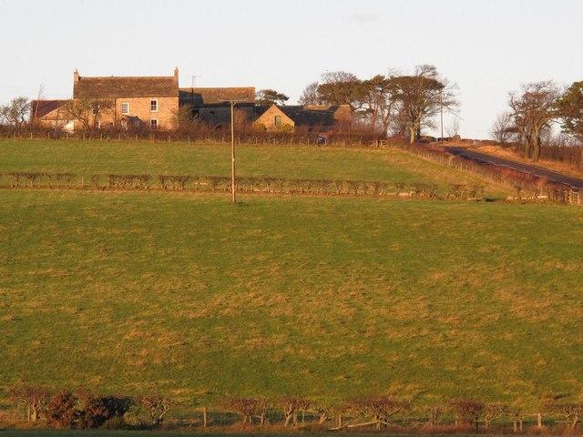 Farmland below Fotherley Buildings