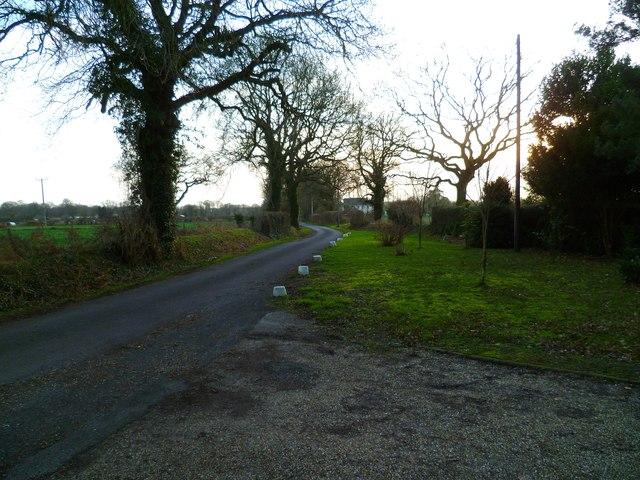 Looking south on Lye Lane
