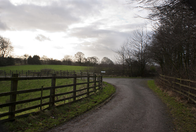 Newlands to the right, Rothwell Farm to the left