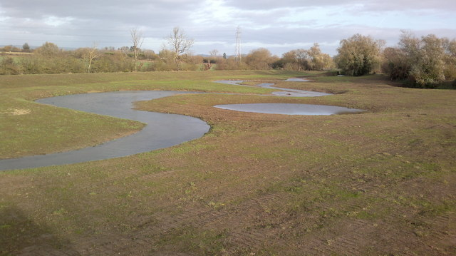 River Chelt's new wetland areas