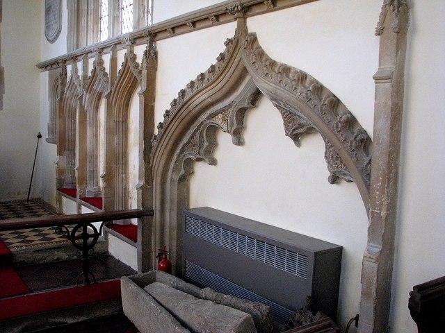 Swaffham Bulbeck: St Mary - sedilia