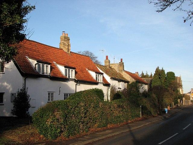 Swaffham Bulbeck: pantiled cottages
