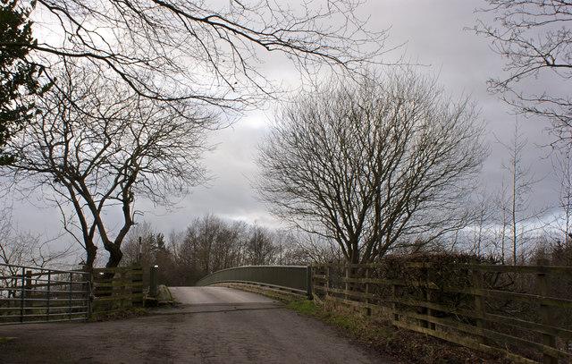 A bridge over the M61