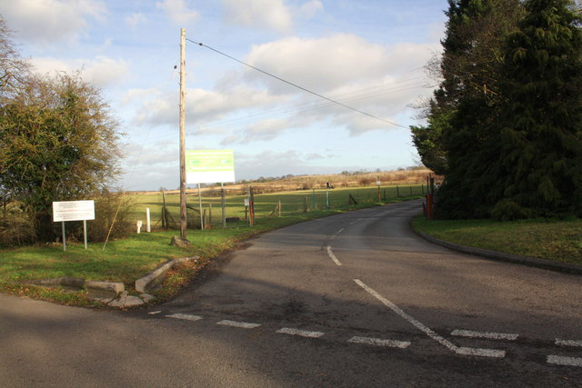 Road to the Oakley Wood Recycling Centre