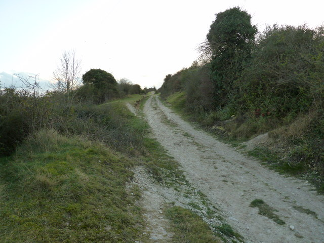 The Monarch's Way and Sussex Border Path climbing Southwick Hill
