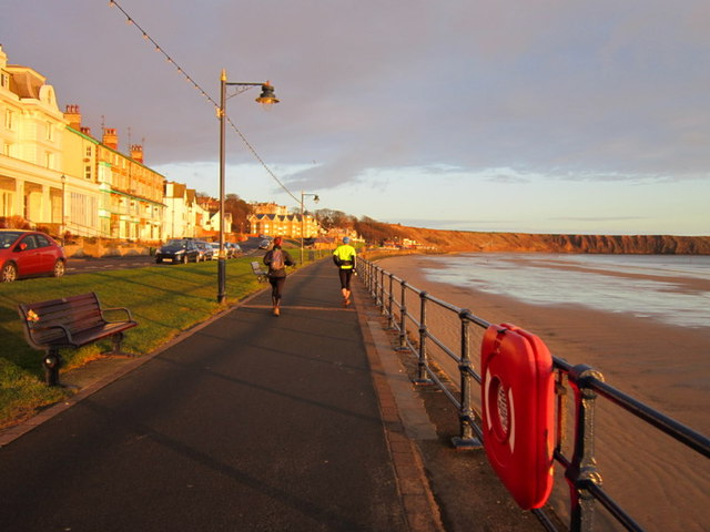 Two late starters pass us on the Filey Flyer