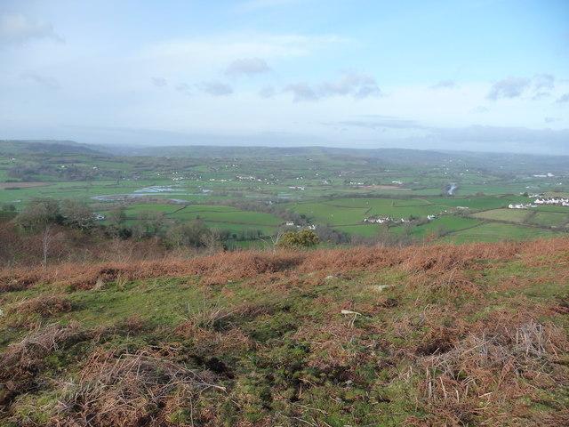 View westwards from Y Gaer Bach on Carn Goch