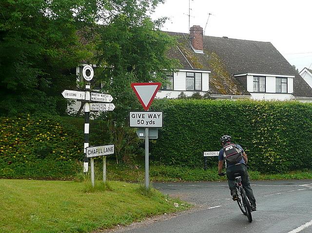 Easton Lane and Chapel Lane