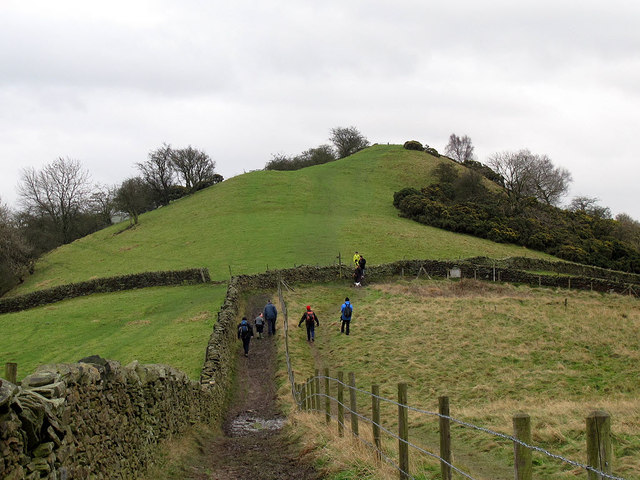 Walkers on Kerridge Hill