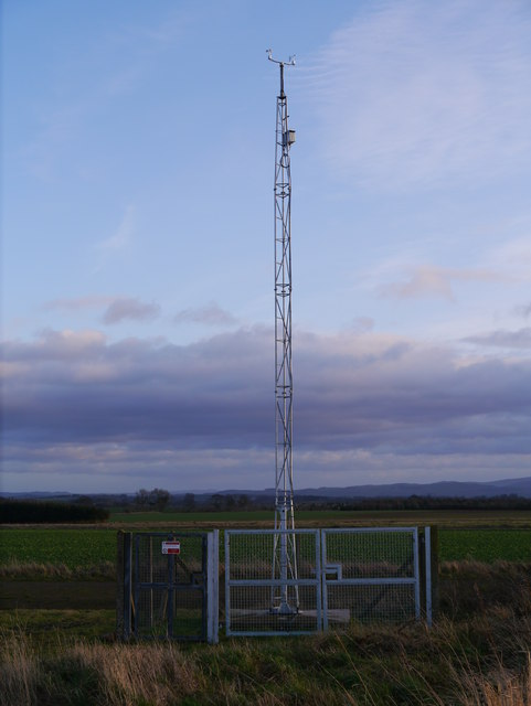 Charterhall Met Office Weather Station Anemometer & Wind Vane
