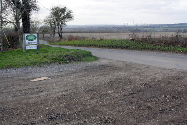 Entrance to Clacks Farm from Clack's Lane