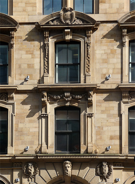 Detail of 9 Portland Street, Manchester