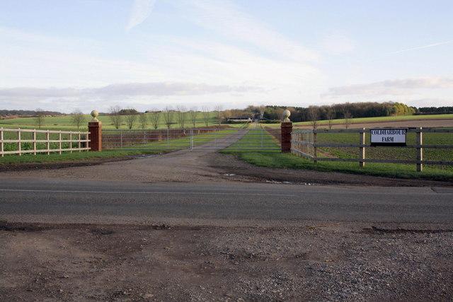 Entrance to Coldharbour Farm