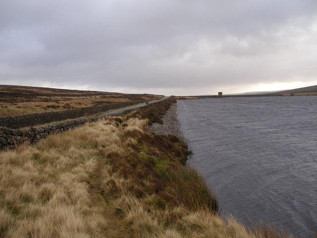 The Bronte Way at Watersheddles Reservoir