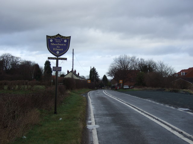 Entering Sherburn in Elmet