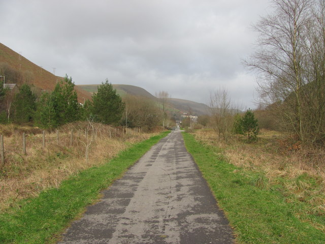 Cycle path near Ogmore Vale