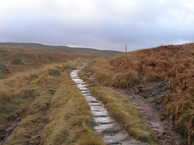 Old paving on the Pennine Bridleway