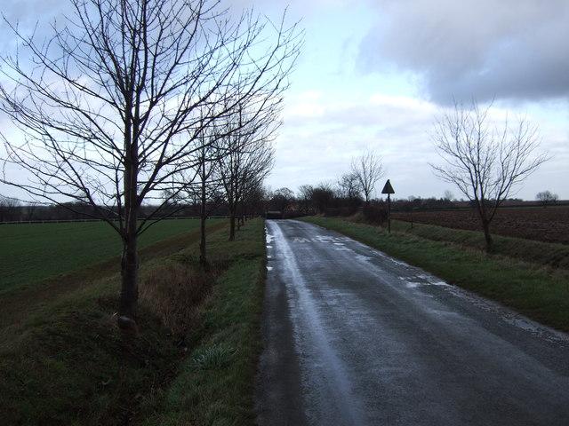 Coldhill Lane towards Saxton
