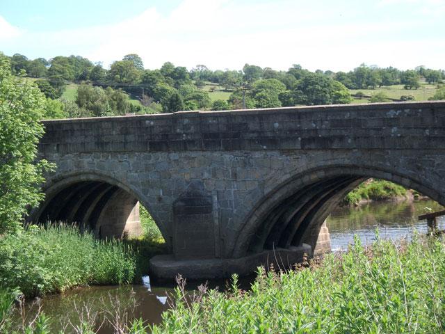Kildwick Bridge the 14th century side